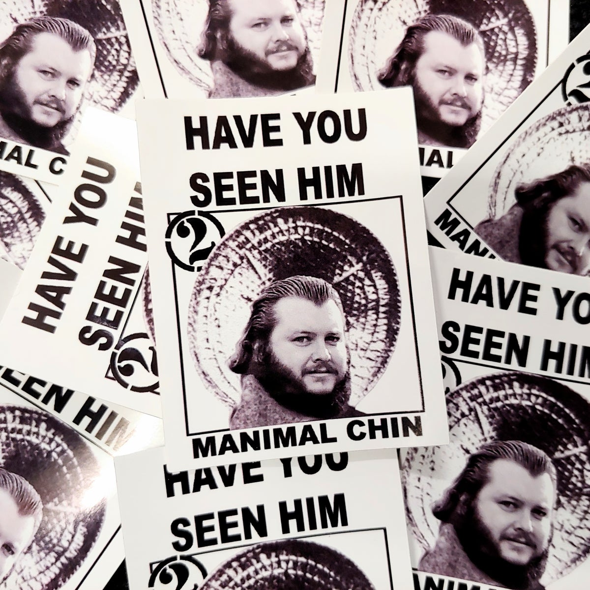"Two Felons ""Manimal Chin"" stickers"