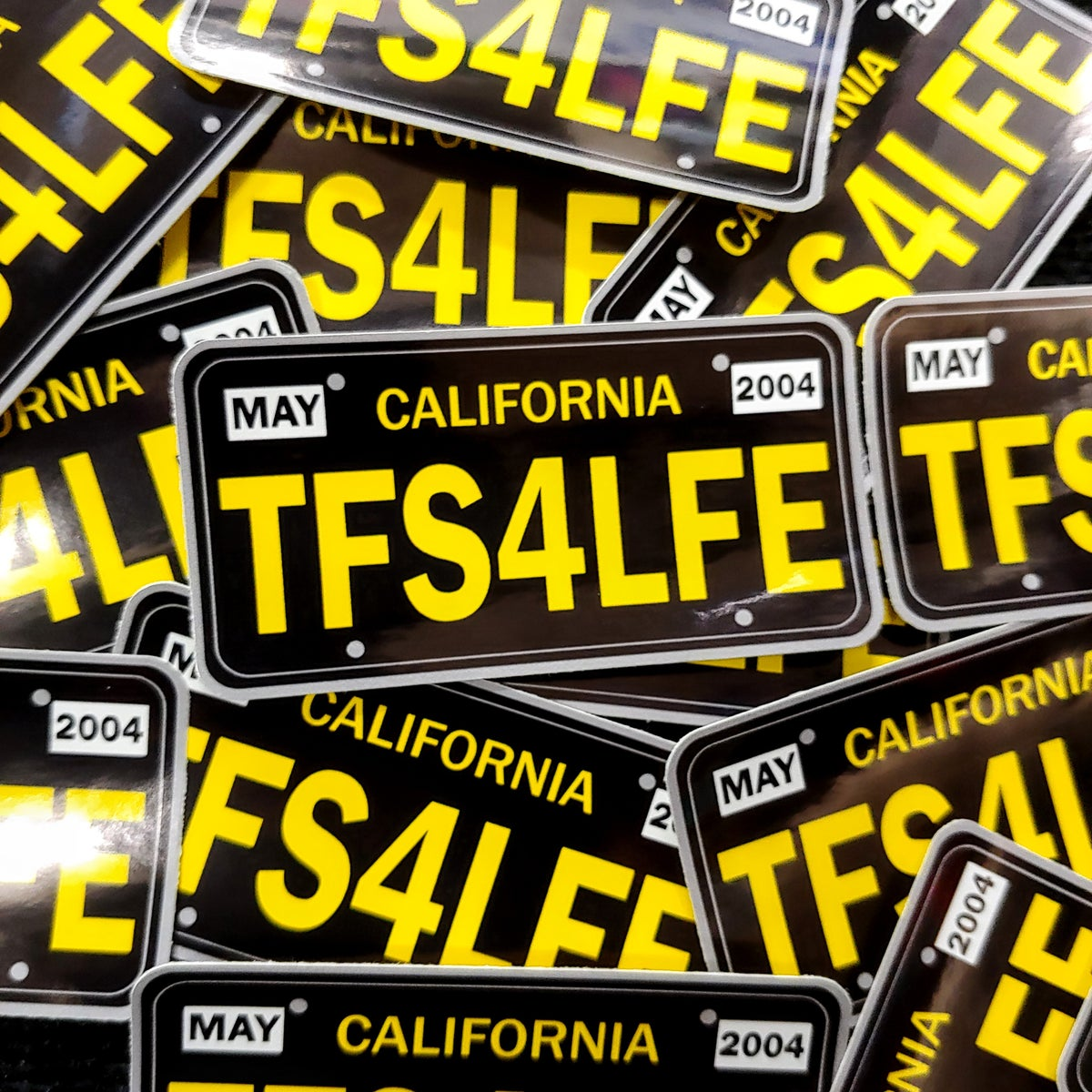 """Two Felons """"CA Plate Black"""" stickers"""