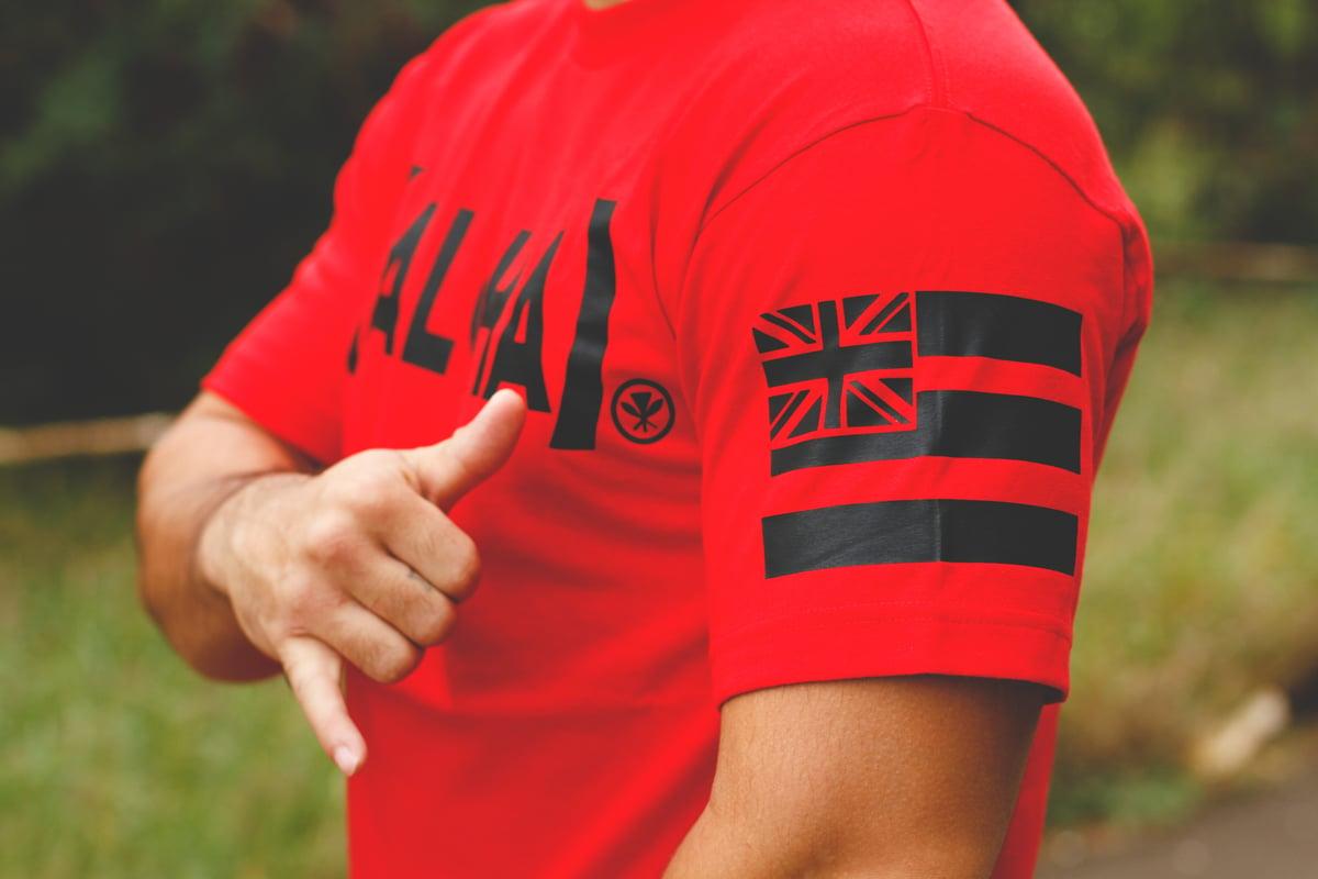 (ALOHA) Red T-shirt