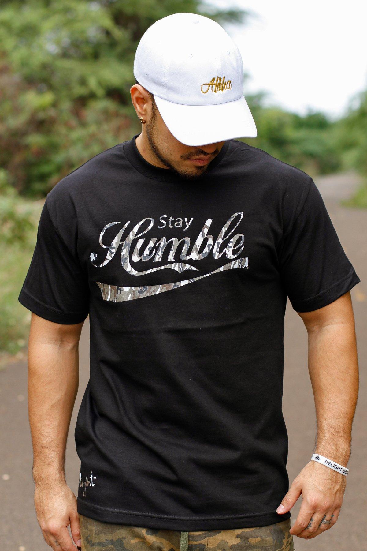 Stay Humble Tee (Black/Camo)