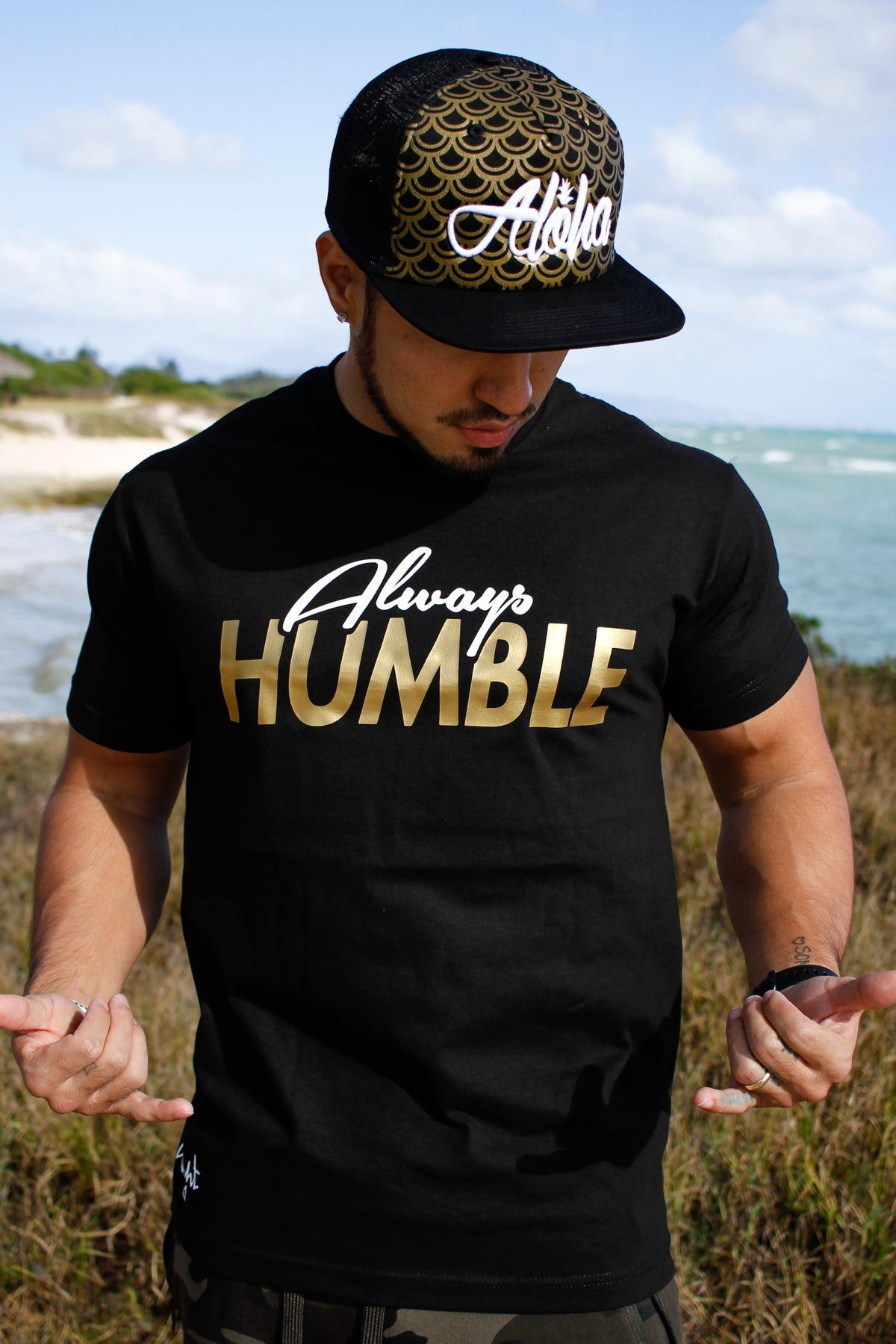 Always Humble Tee (Black/Gold)