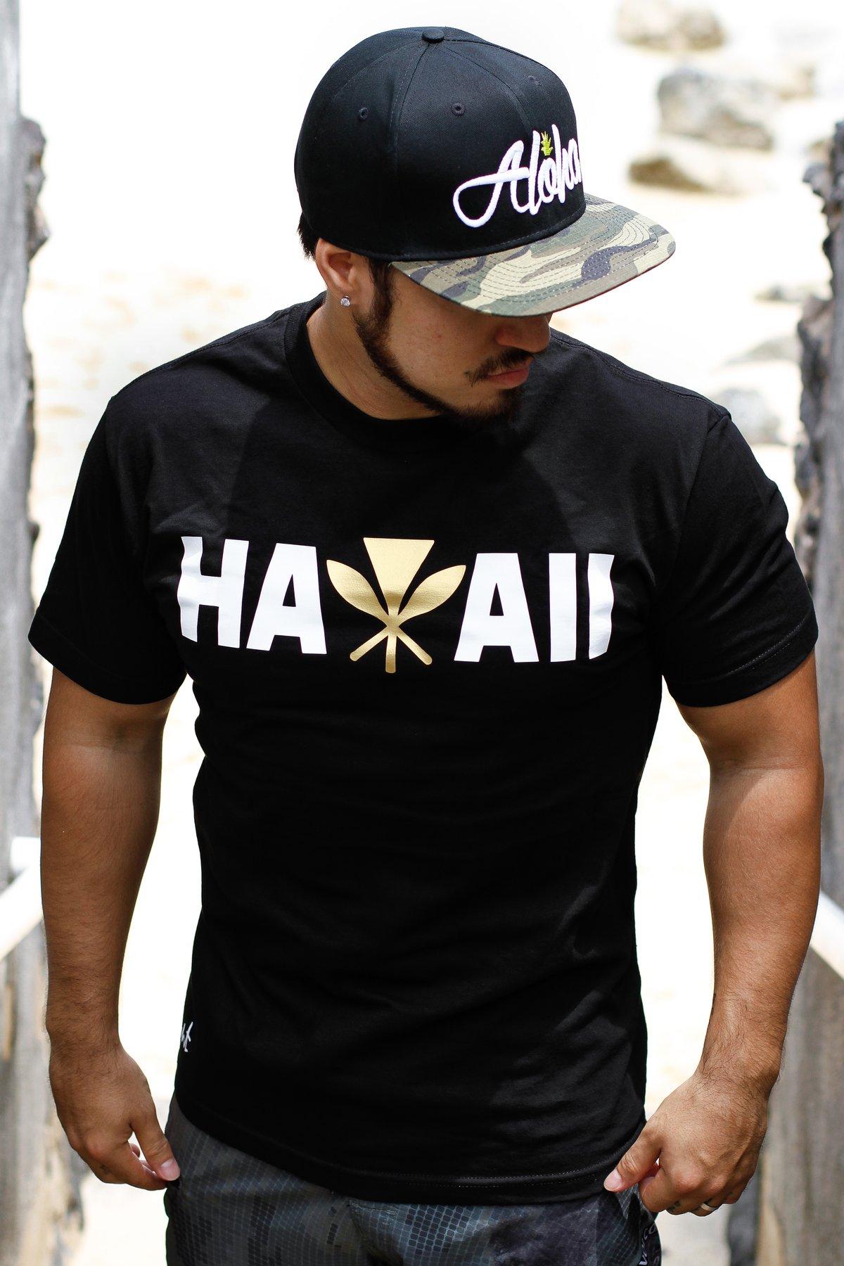 Hawaii Maoli Tee (Black/Gold)