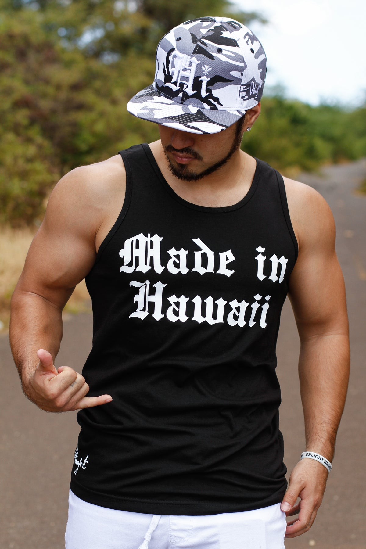 Made In Hawaii Adult Tank (Black/White)