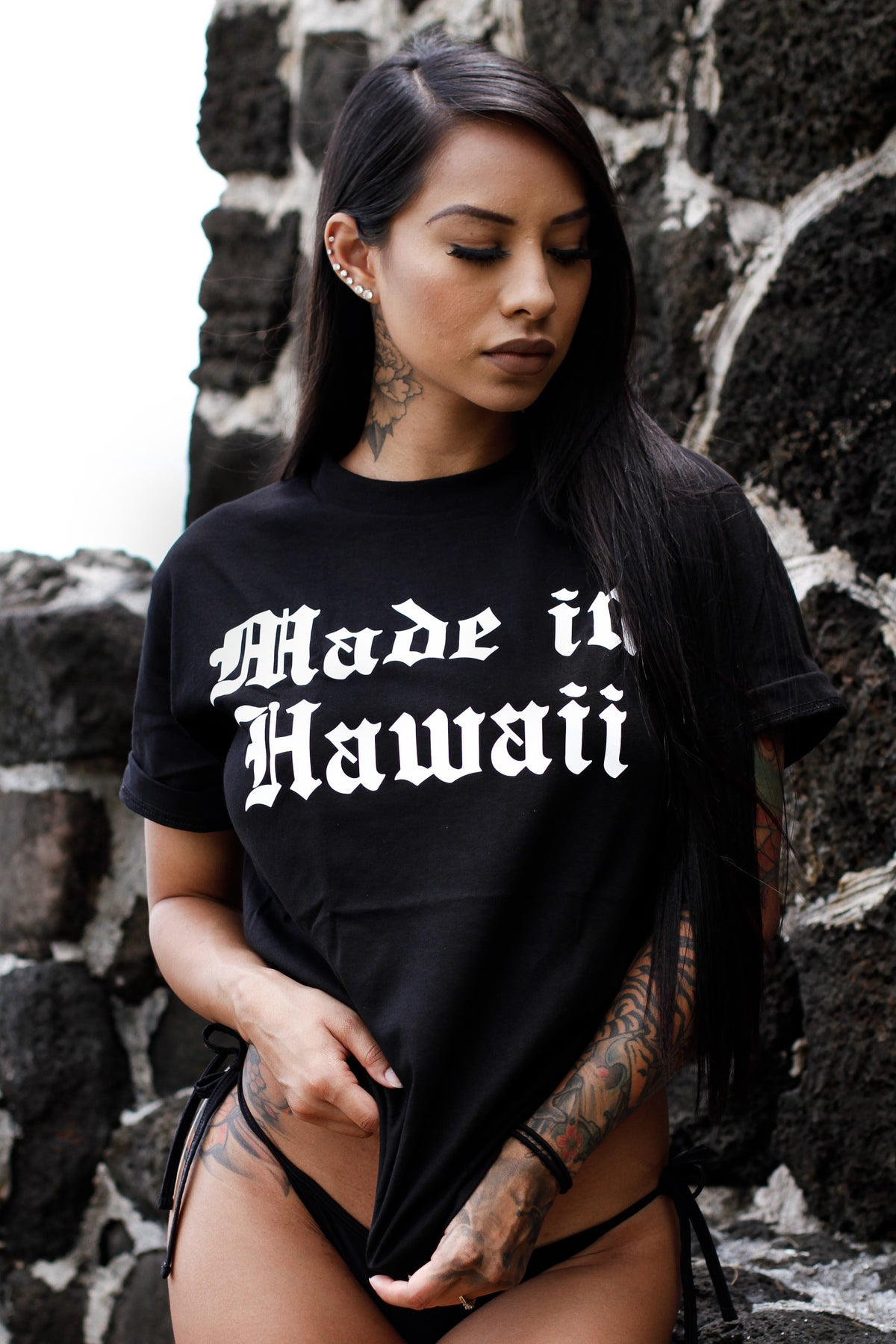 Made in Hawaii Tee (Black/White)