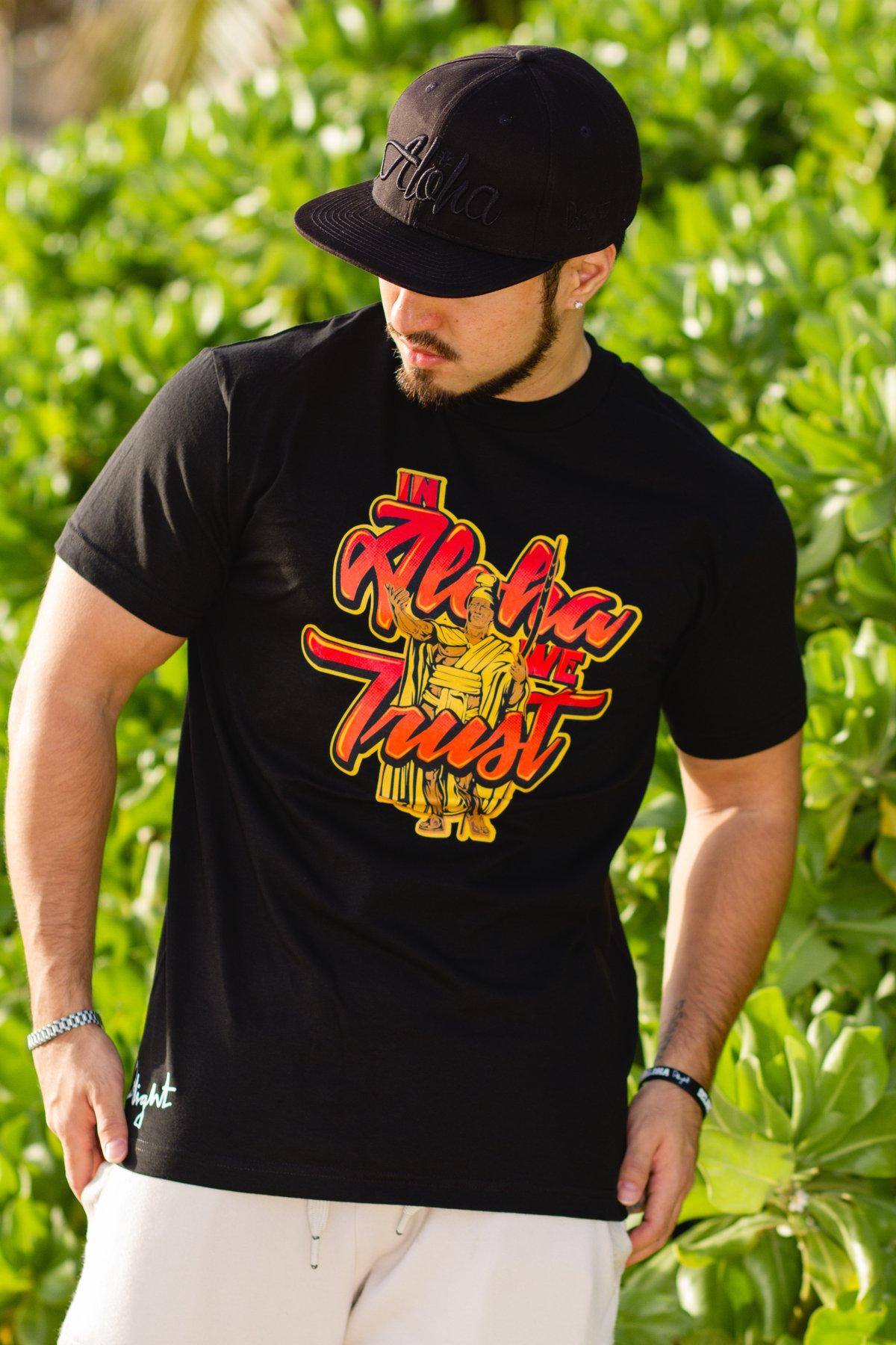In Aloha We Trust (Black Tee)