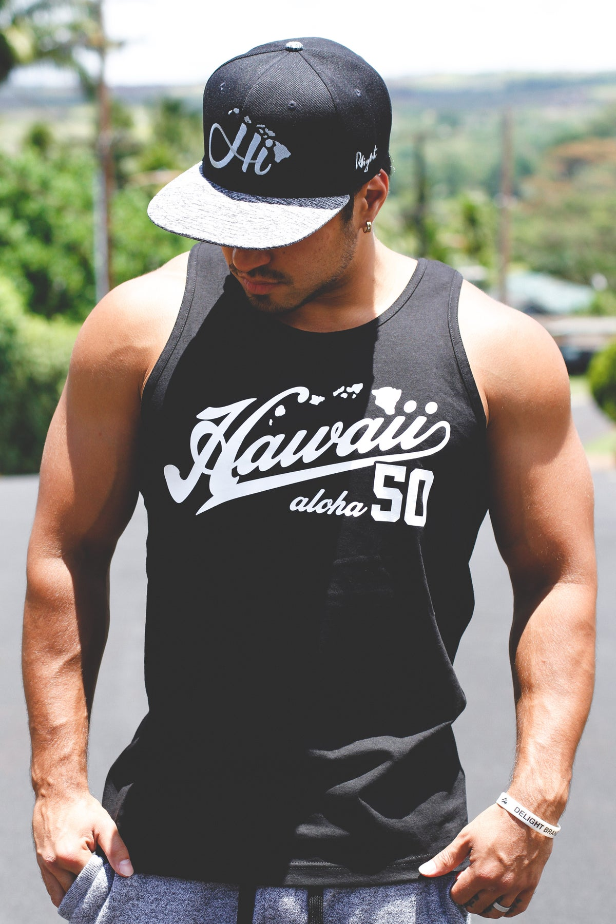 Hawaii Aloha 50 Tank Top & T-shirt (Black)