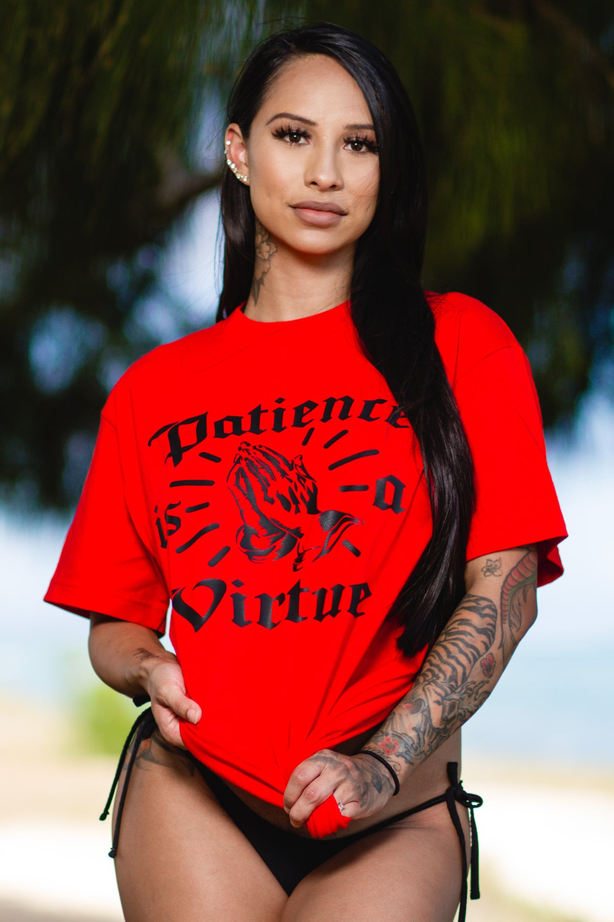 Patience is a Virtue Red Tee