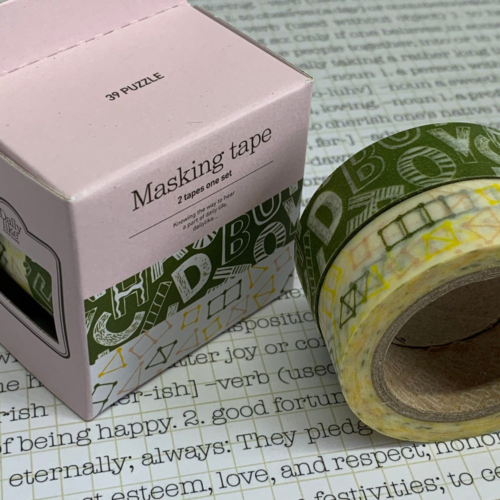 Image of puzzle washi tape