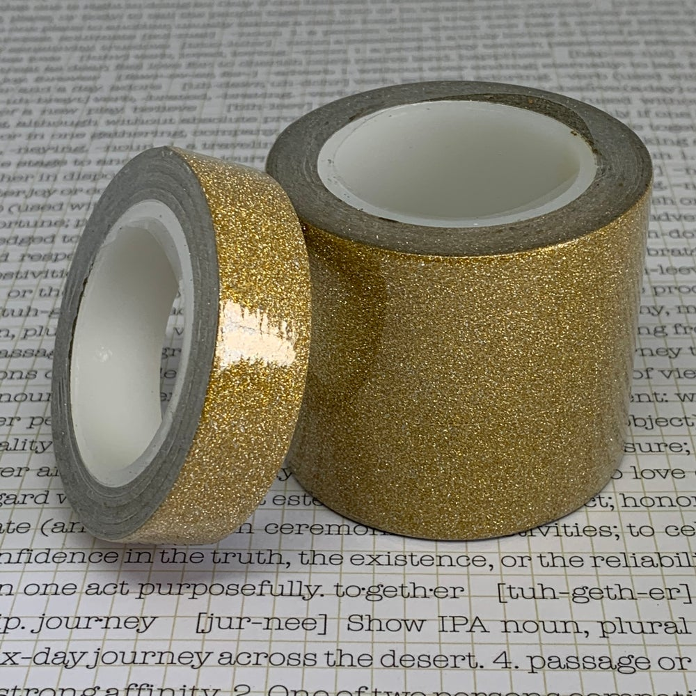 Image of gold glitter tape