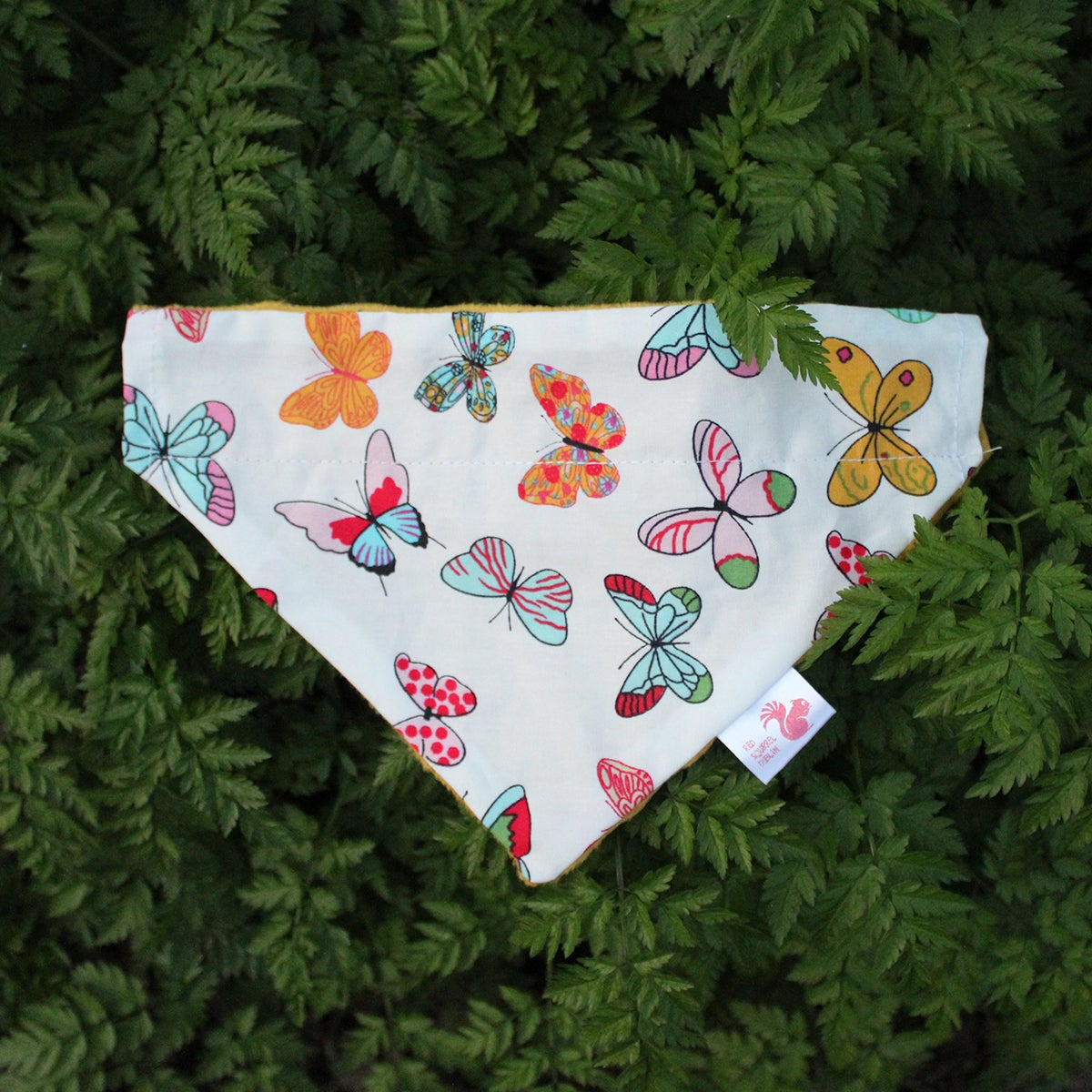 Image of Butterflies & Giraffes dog & cat bandana