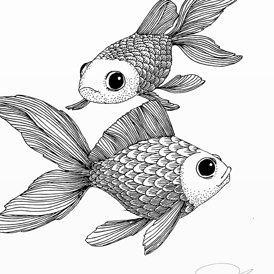 Image of Print: Goldfish