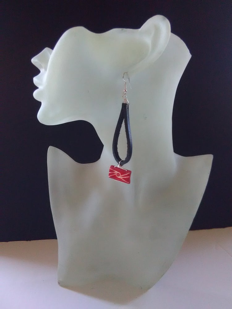 Image of Leather Looped Ear-Rings (2)
