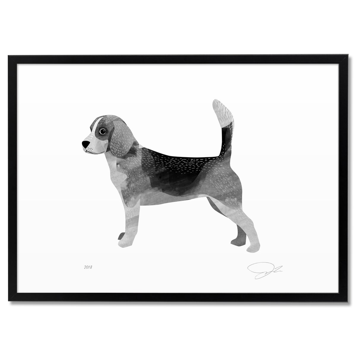 Image of Print: Beagle