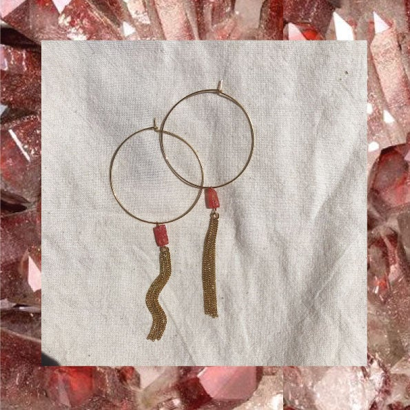 Image of CRÉOLES POMPON Quartz cherry