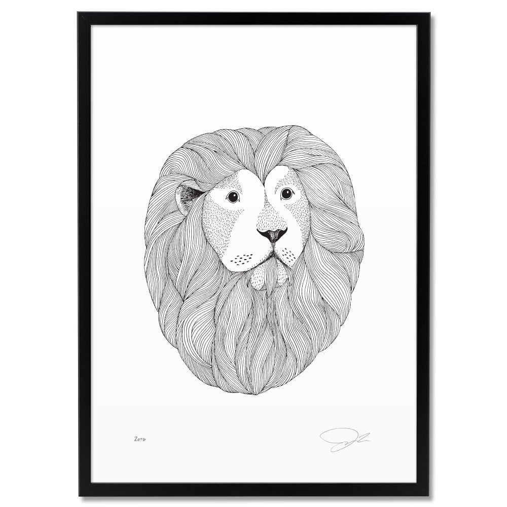 Image of Print: Lion
