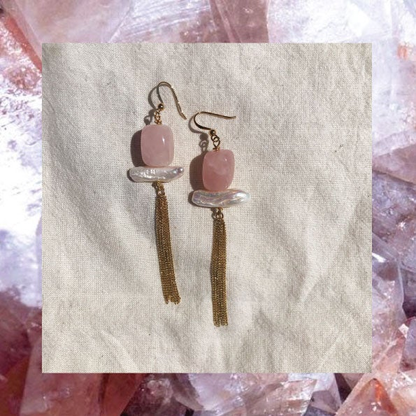 Image of Boucles Pompon Quartz rose