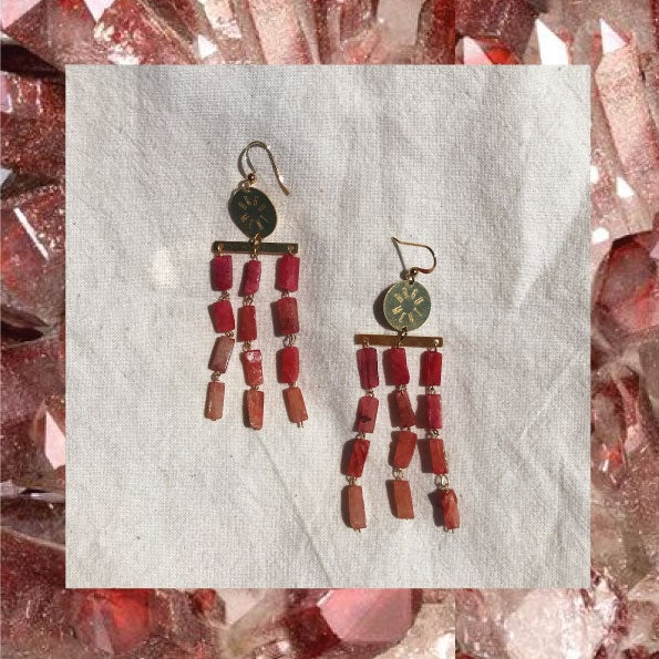 Image of BOUCLES de reine Quartz cherry