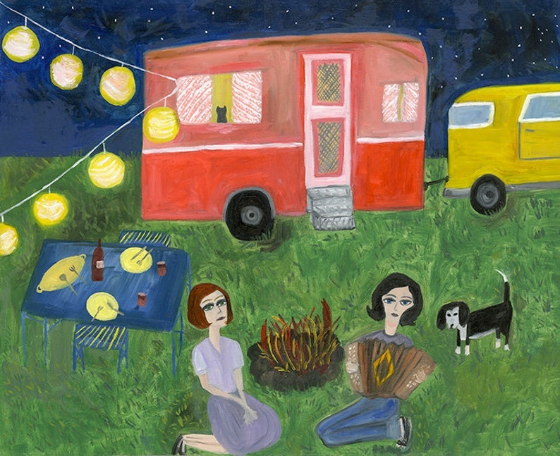 Image of A summer night under the stars. Limited edition print.