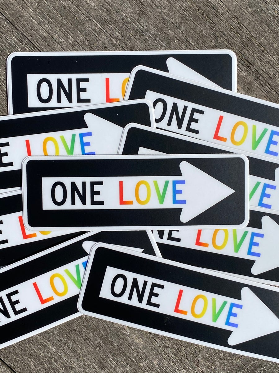 Image of One Love Sticker