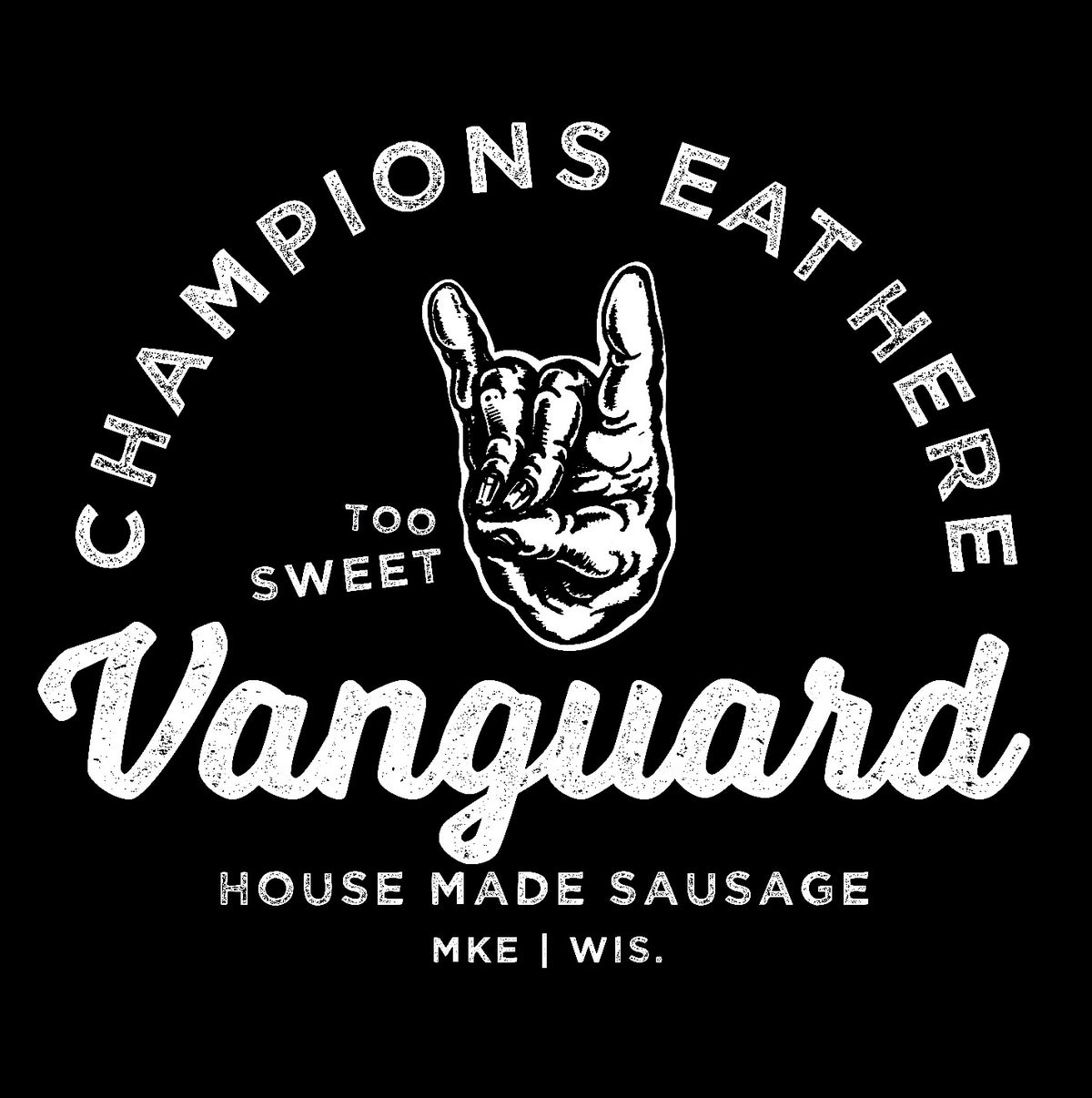 """Champions Eat Here"" T-Shirt"
