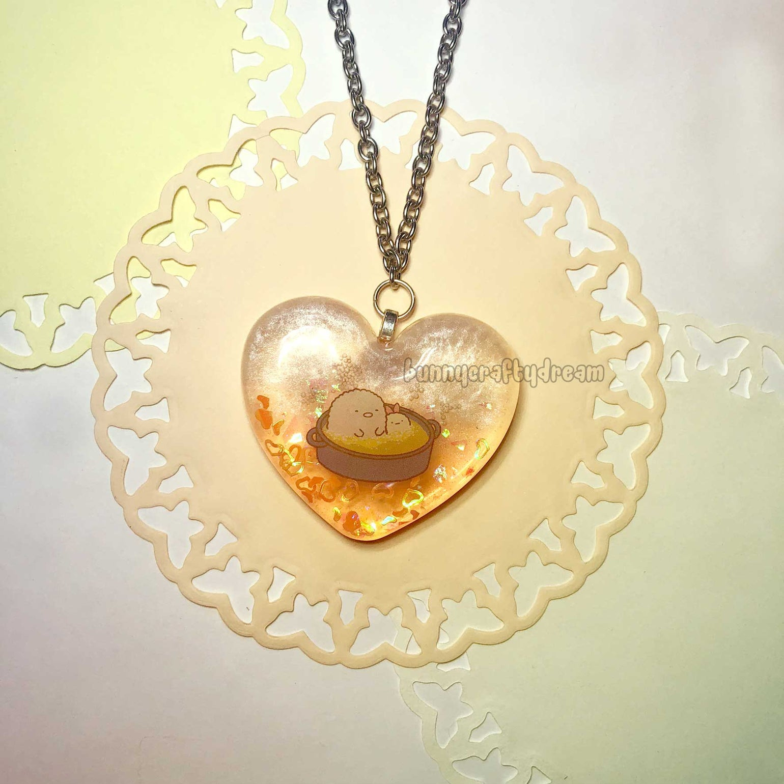 Image of Will You Fry With Me? Heart Necklace