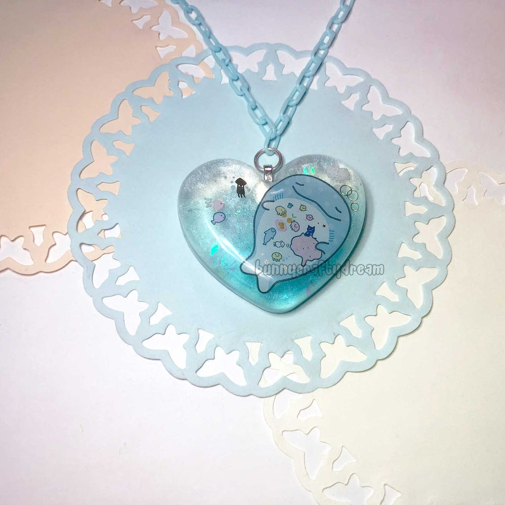 Image of Sleepy Whale Necklace