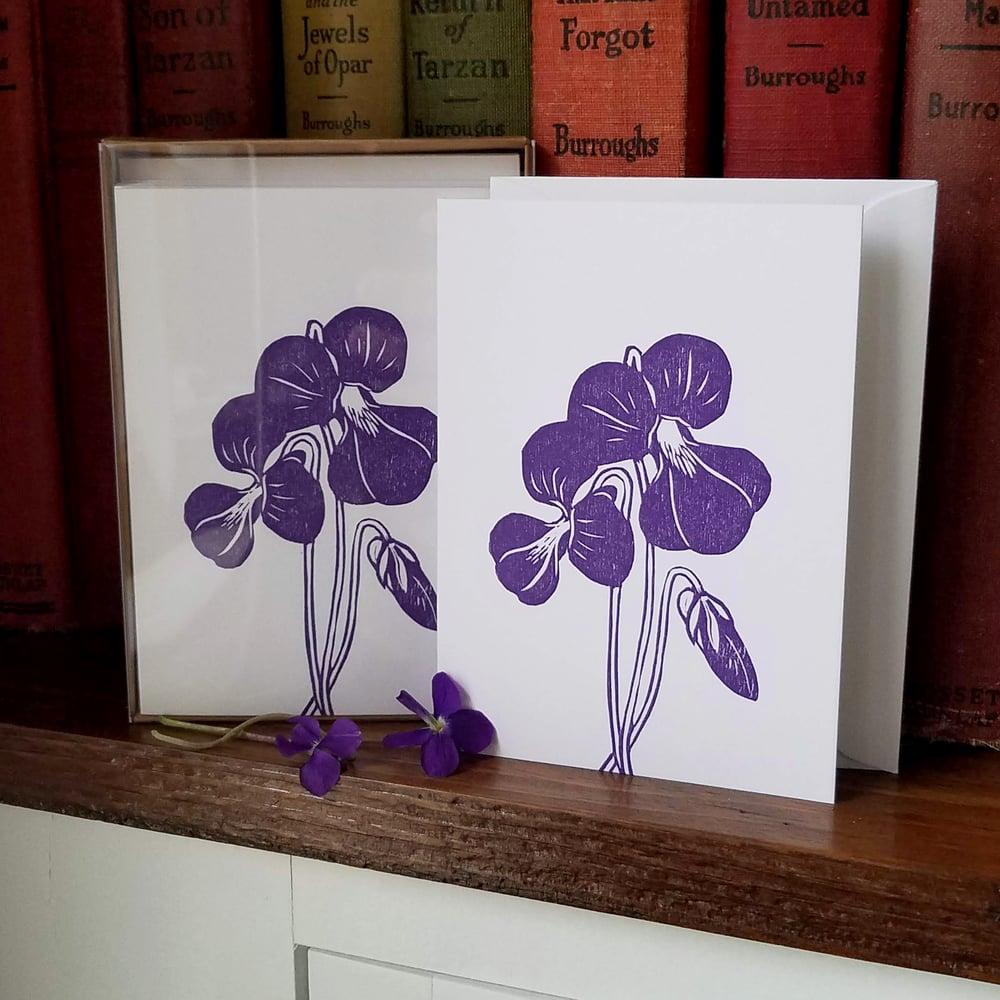 Image of Violet Notecards