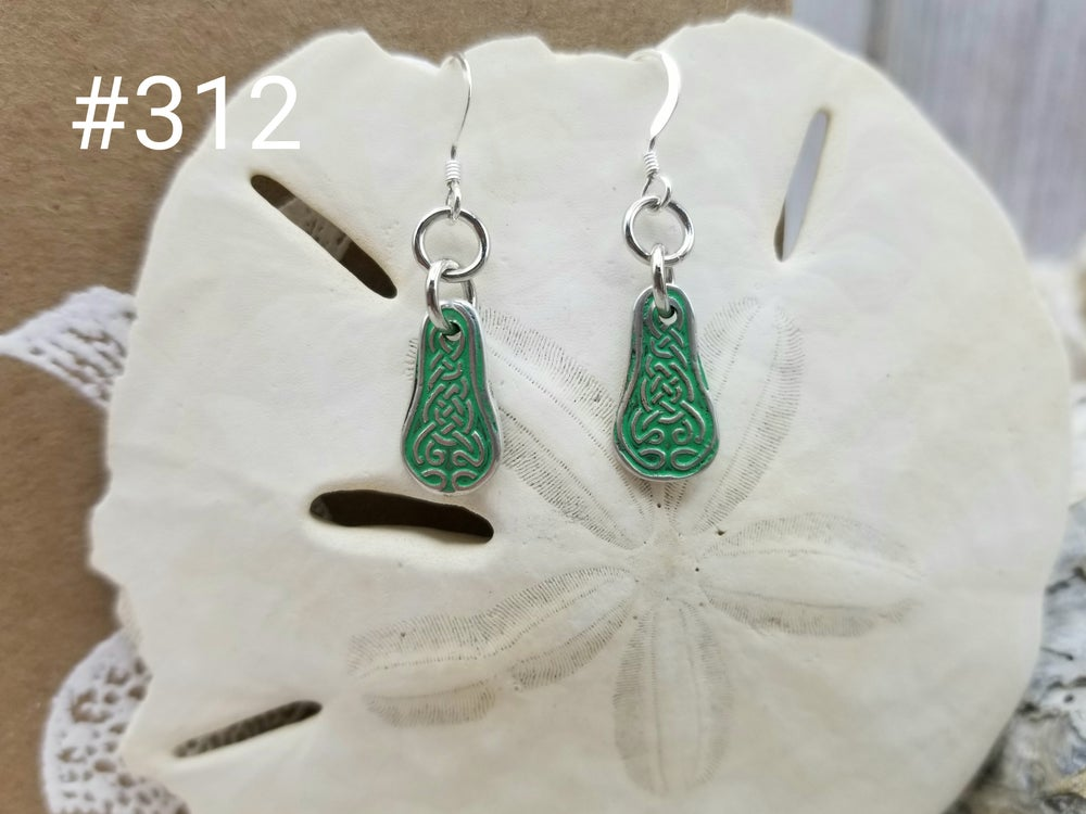 Image of Fine Silver- Celtic- Earrings- Handmade- #312