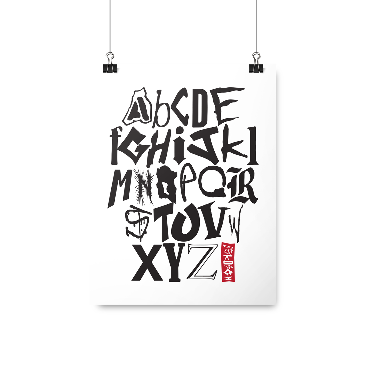 Image of NYHC Alphabet Print