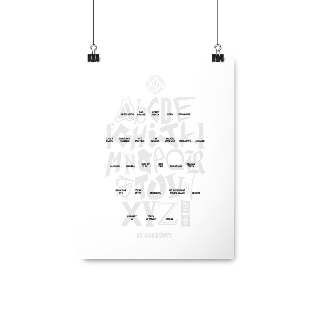 NYHC Alphabet Print