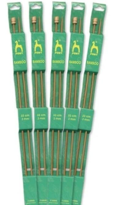 Agulhas de tricô em Bambu Pony