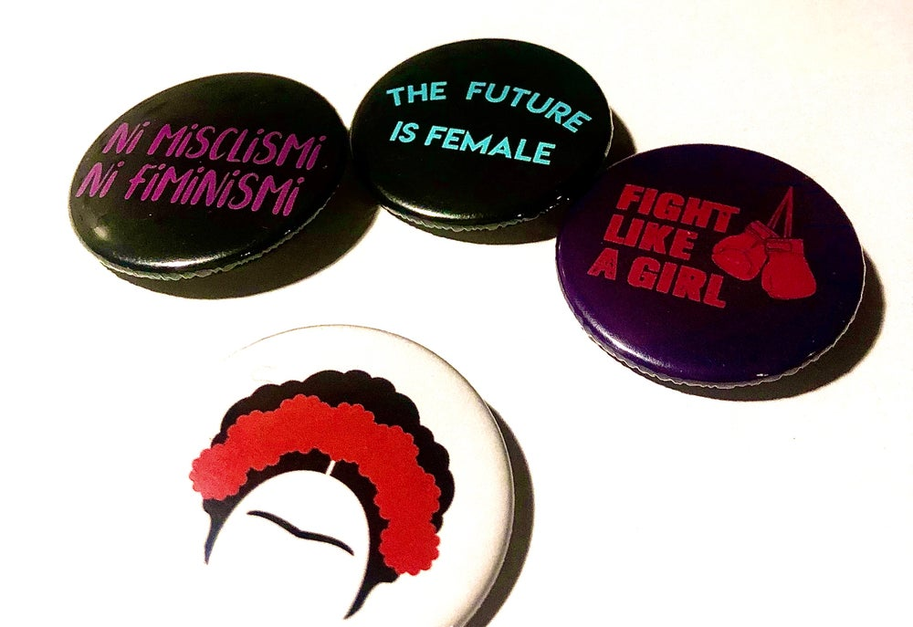 Image of Pack de 4 xapes FEMINISME