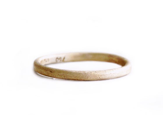 Image of Organic wedding band. An earthy ring. Goat