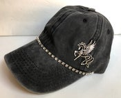 Image of Baseball Hat with Crystal Black Pegasus