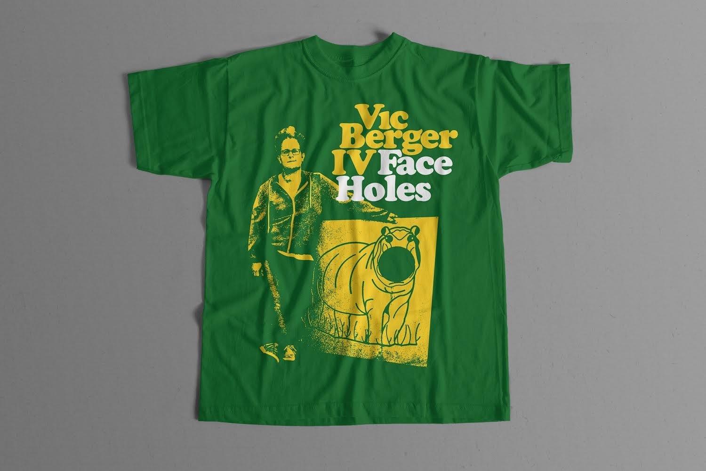 Image of Vic Berger - Face Holes T Shirt
