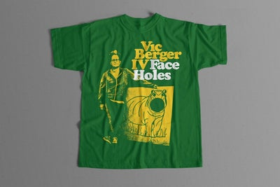 Image of Vic Berger - Face Holes T Shirt