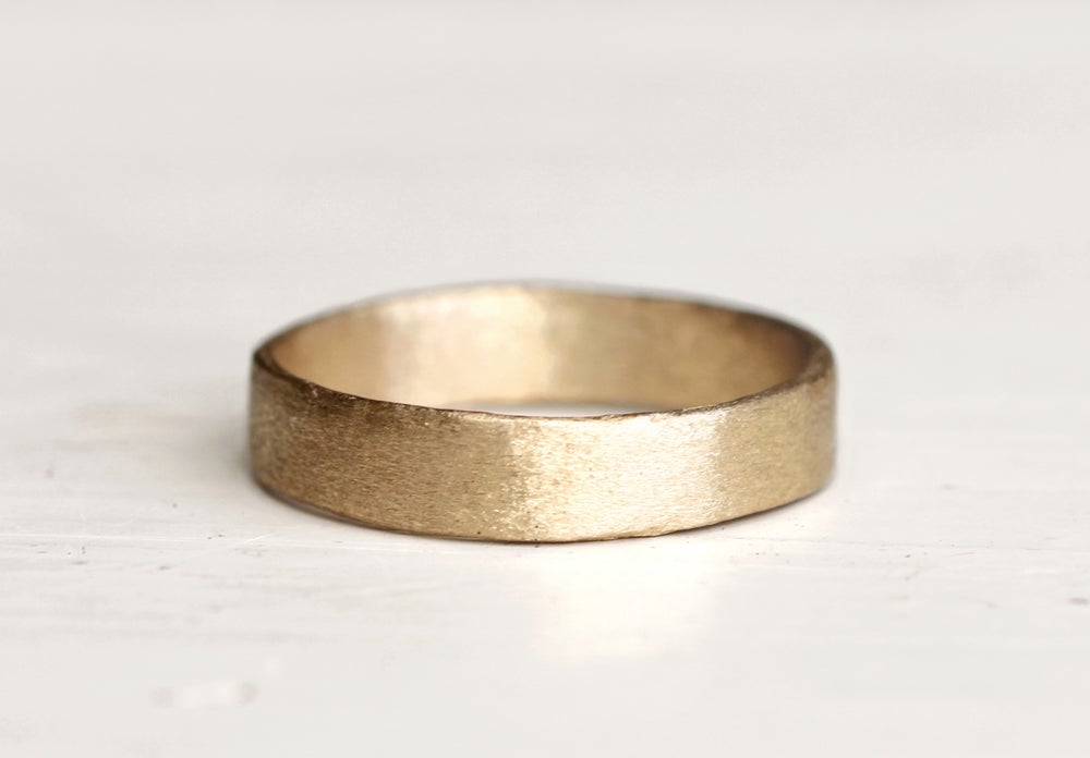 Image of 4mm wedding band. 18k. Naked Big Lulu