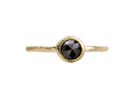 Image of Black diamond engagement ring. 18k. Malt