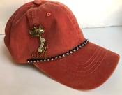Image of Acid Washed Baseball Hat with Sassy Kitty