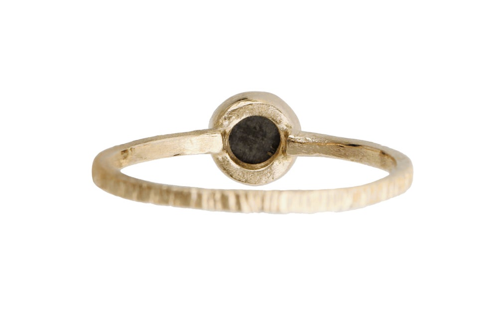 Image of Black diamond ring. Rose cut. Texas