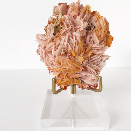 Image of Vanadinite/Barite no.02 + Lucite and Brass Stand