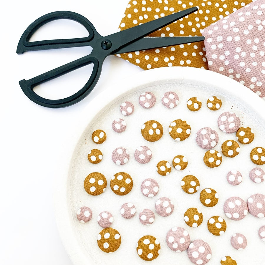 Image of Spotty Fabric Studs
