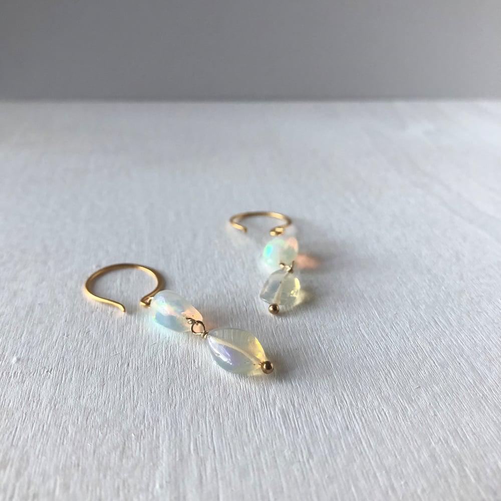 Image of Opal Pebble Earrings
