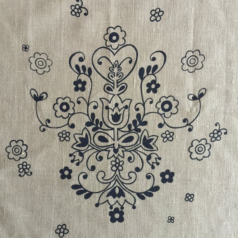 Image of Folkloric embroidery panel