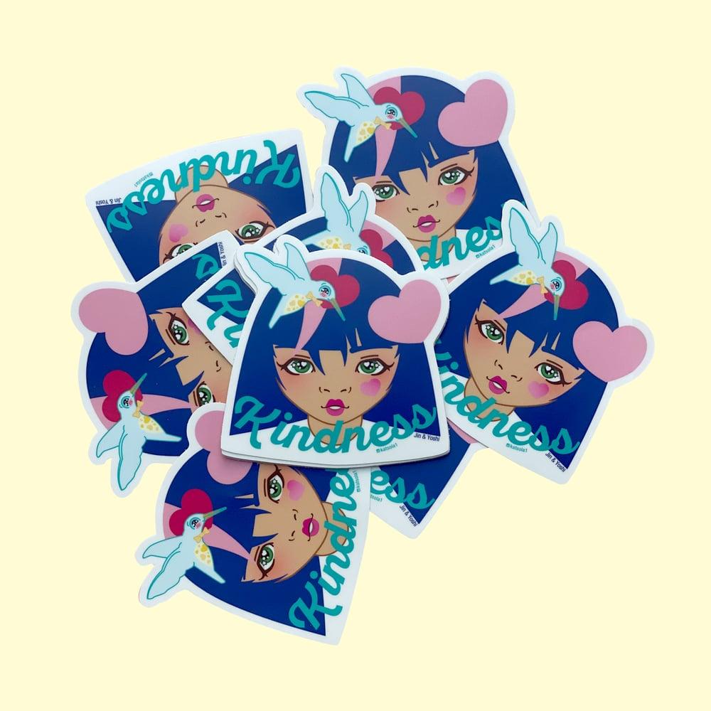 Image of Jin & Yoshi Kindness Vinyl Sticker