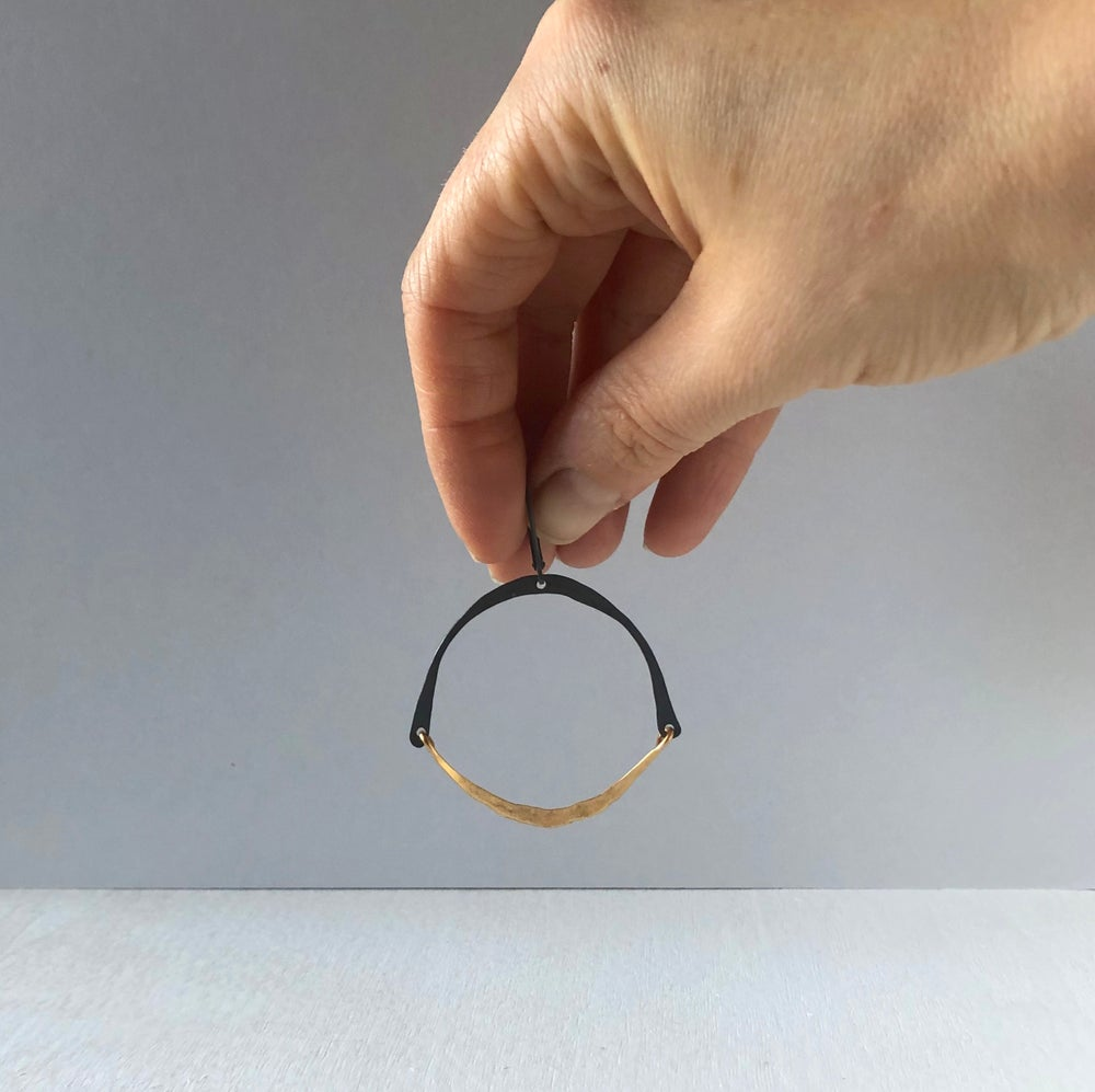 Image of Two-Tone Hinged Hoops