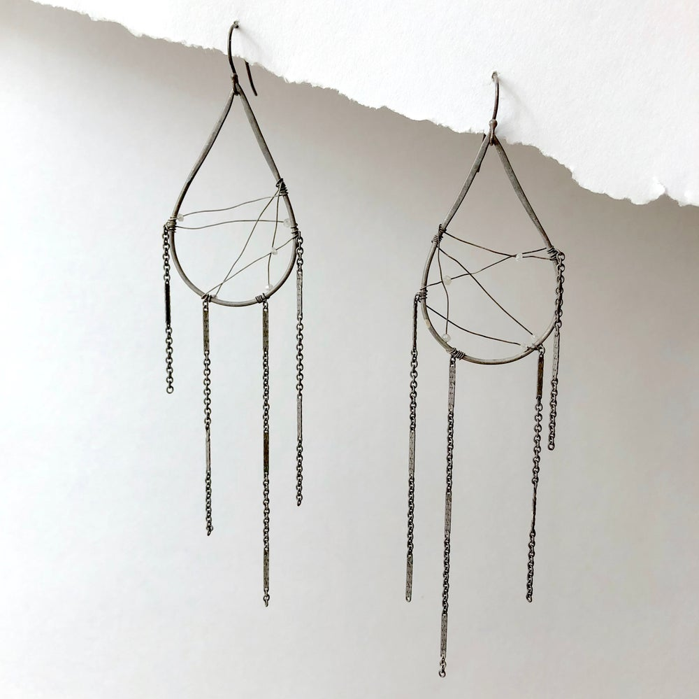 Image of Diamond Dreamcatcher Earrings