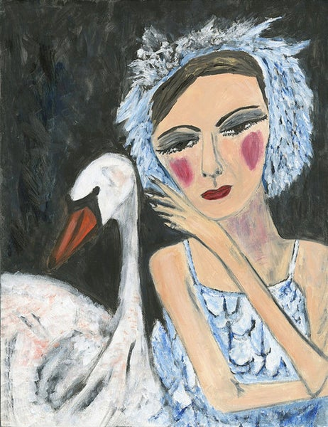 Image of Irina's swan. Limited edition print.