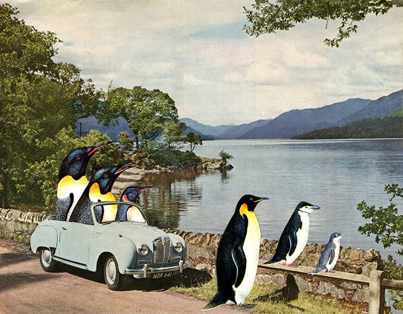 Image of Holiday in Scotland. Limited edition collage print.
