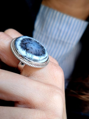 Image of Bague Merlinite - taille 57 -